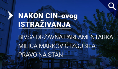 Nakon CIN-ovog pisanja Milica Marković izgubila pravo na stan