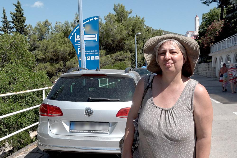 Tatjana Arsić, stalna gošća u Neumu, kaže da je za osam dana dobila 560 KM kazni (Foto: CIN)